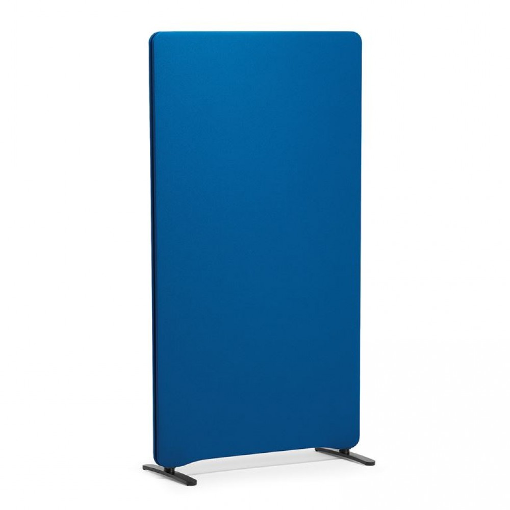 Paravan de birou, l 800 x H 1500 mm, albastru