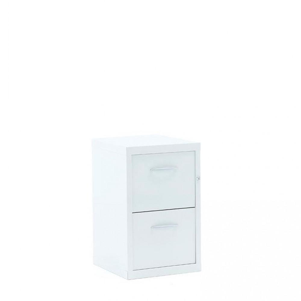 Dulap-fiset pentru documente  2 sertare, H 660 x l 415 x A 420 mm, alb