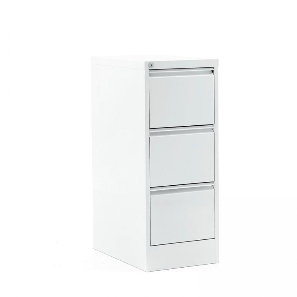 Dulap-fiset pentru documente  3 sertare, H 1030 x l 415 x A 630 mm, alb