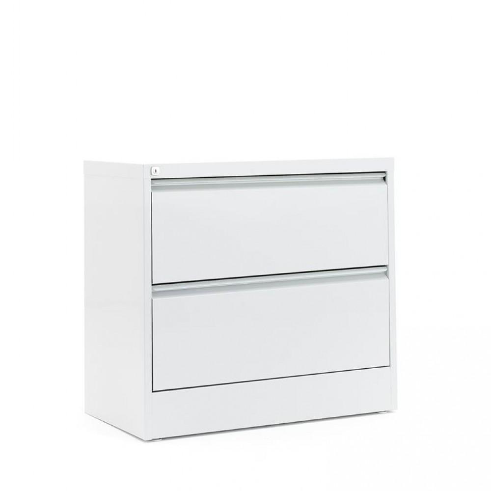 Dulap-fiset pentru documente 2 sertare, H 740 x l 800 x A 425 mm, gri