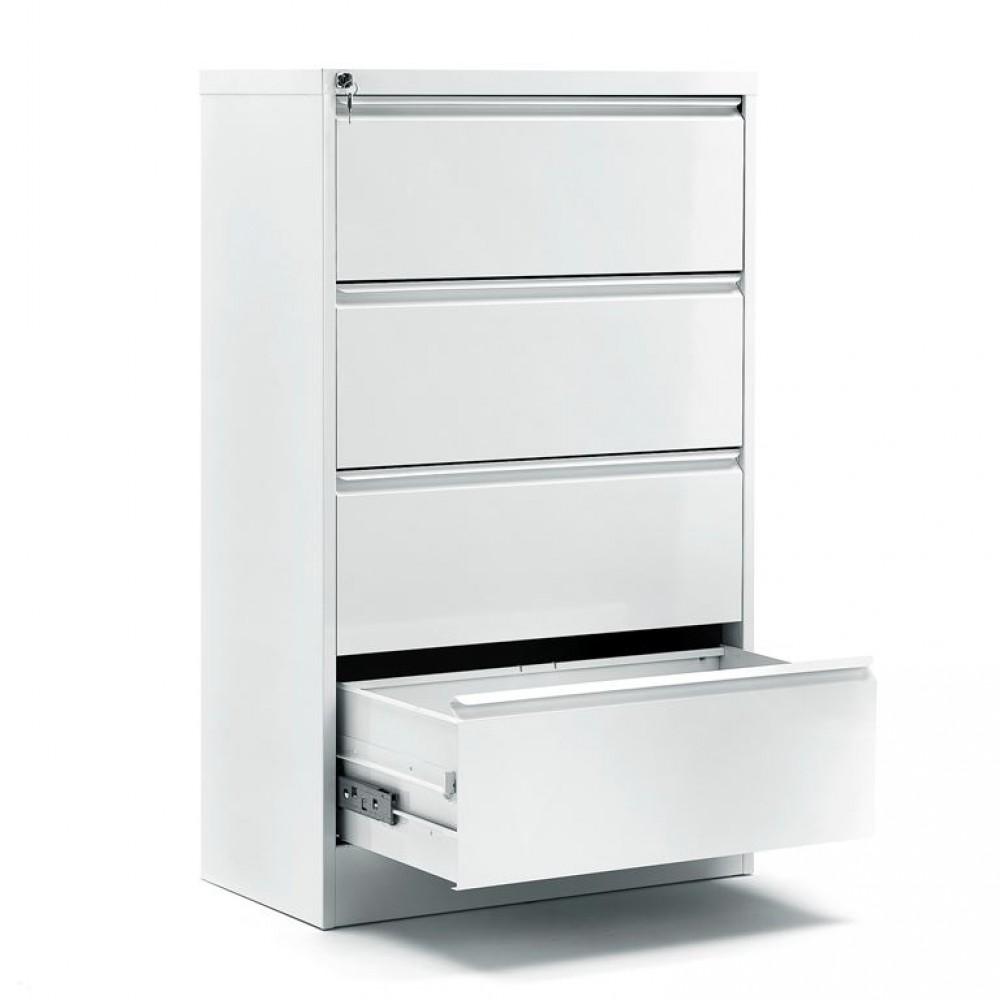 Dulap-fiset pentru documente 4 sertare, H 1320 x l 800 x A 425 mm, gri
