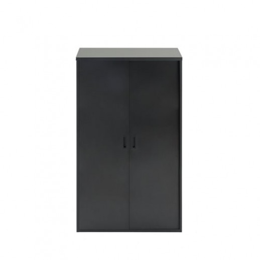 Dulap de birou cu 3 rafturi,  1600 x 800 x 400 mm, negru