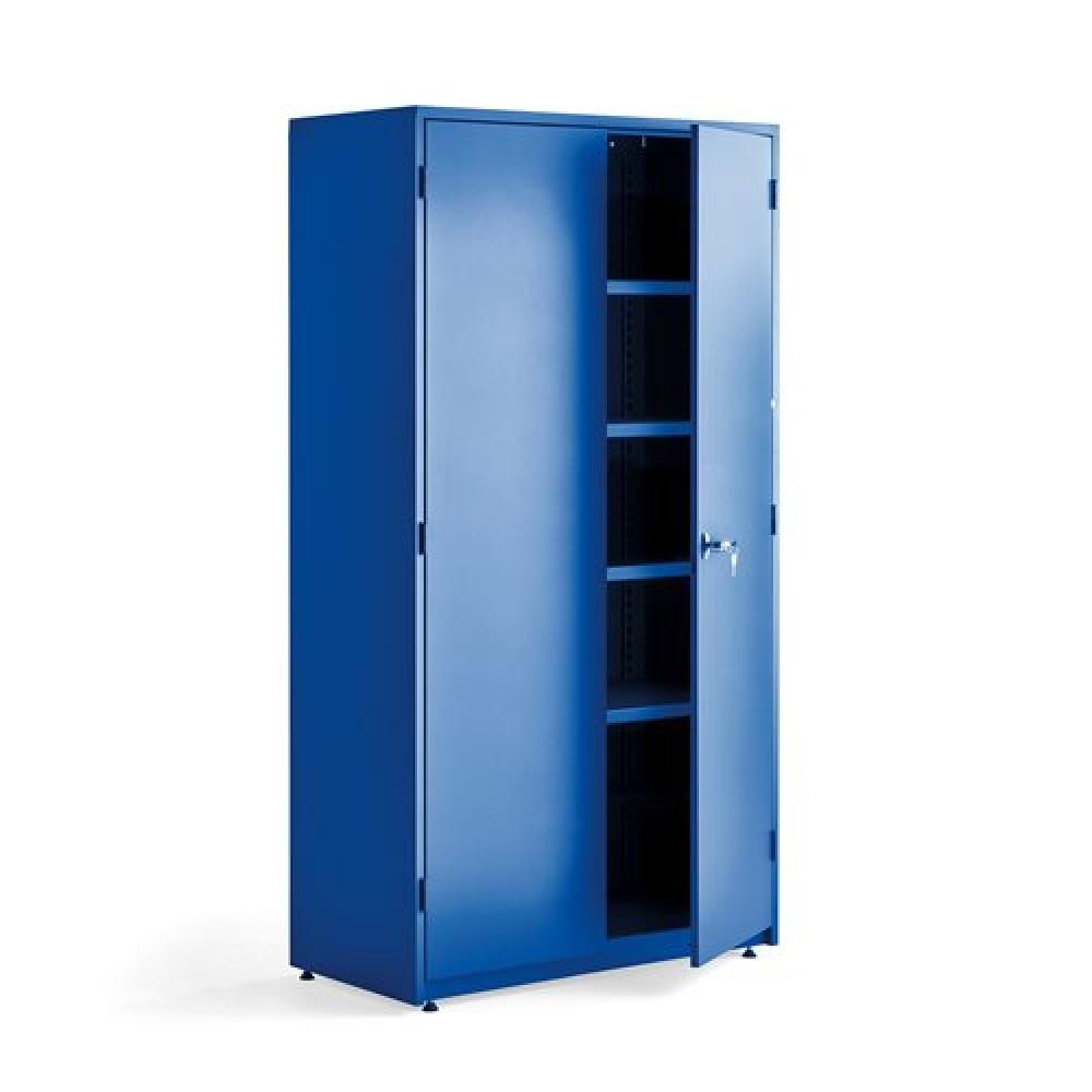 Dulap foarte mare de depozitare, l 1020 x A 500 x H 1900 mm, albastru / albastru