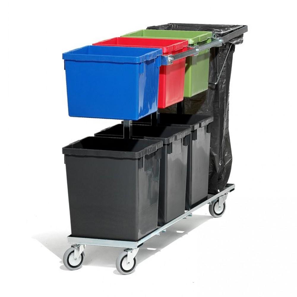 Carucior pentru containere de gunoi, L 1200 mm
