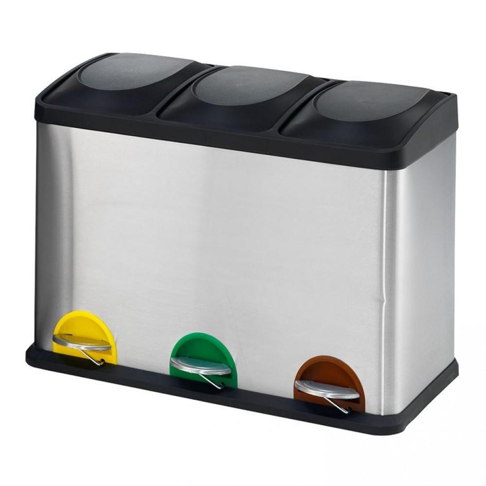 Cos de gunoi din inox pentru deseuri - 45 L