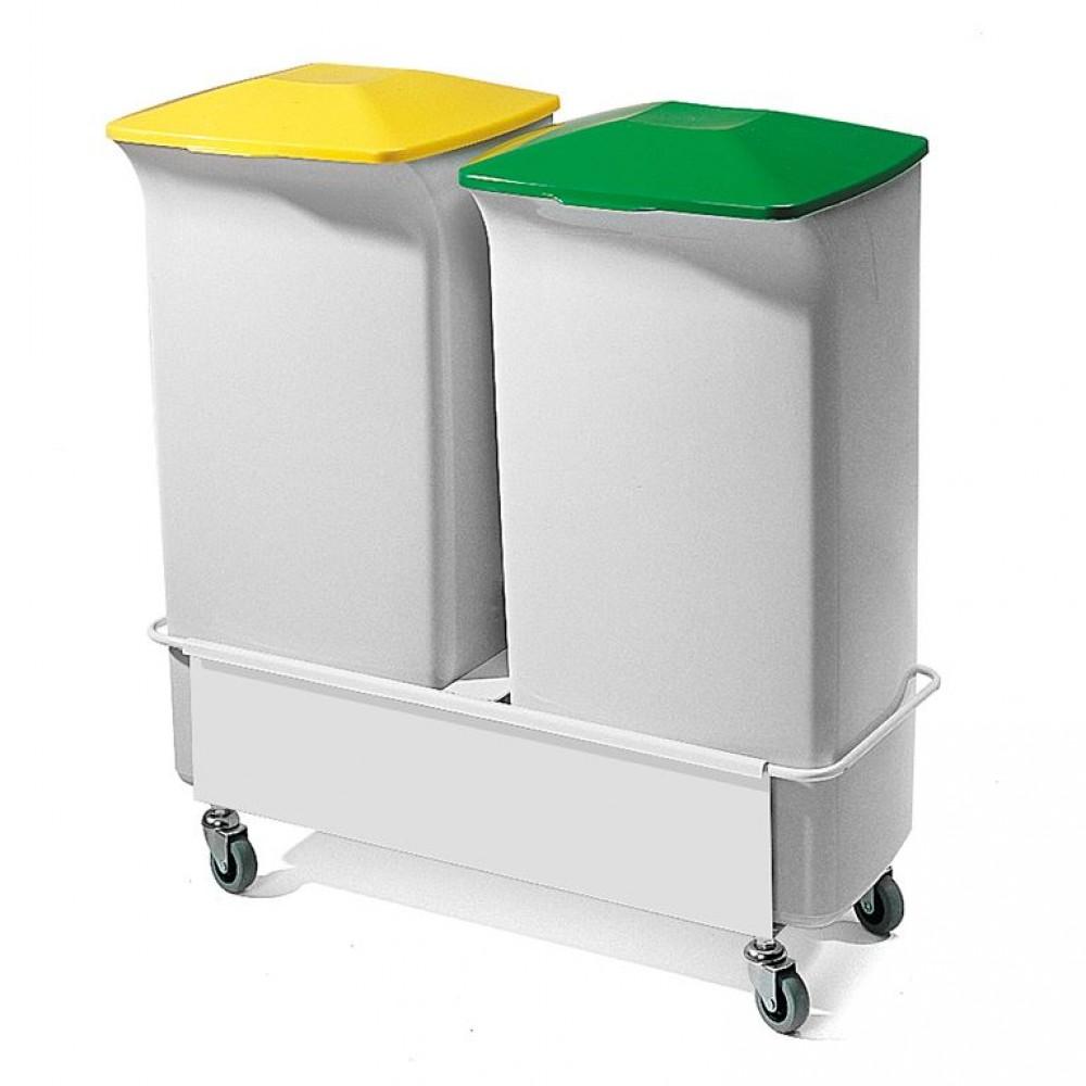 Container pentru separarea deseurilor H 700 x l 670 x A 375 mm, 40 L