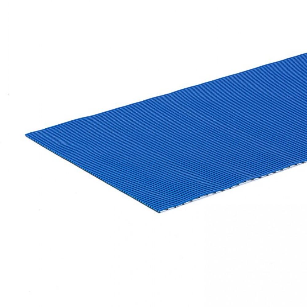 Covor de lucru anti-alunecare l 910 x L 2000 mm, albastru