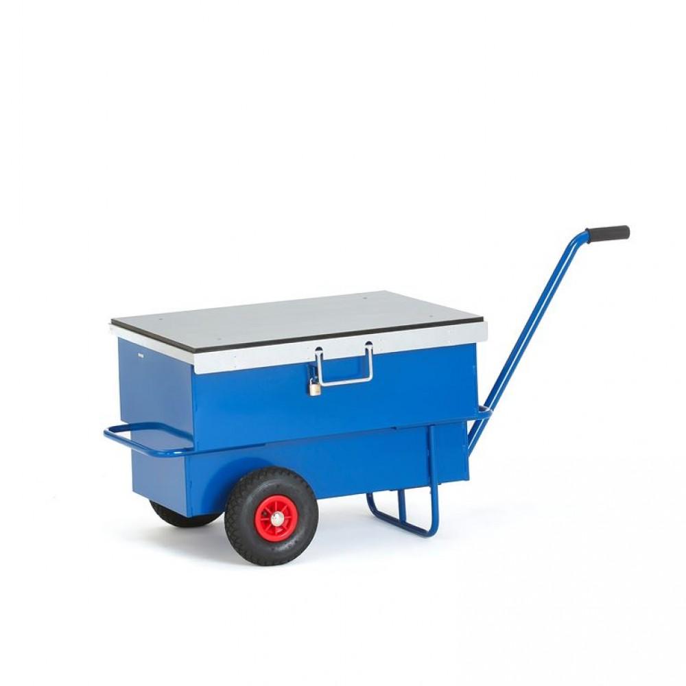 Carucior tip container cu capac H 610  x l 600  x A 940 mm