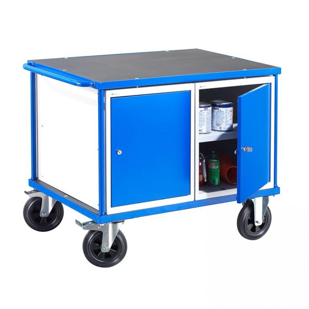 Carucior de scule cu două dulapuri,  H 875 x l 1000 x A 700 mm, capacitate  300 kg