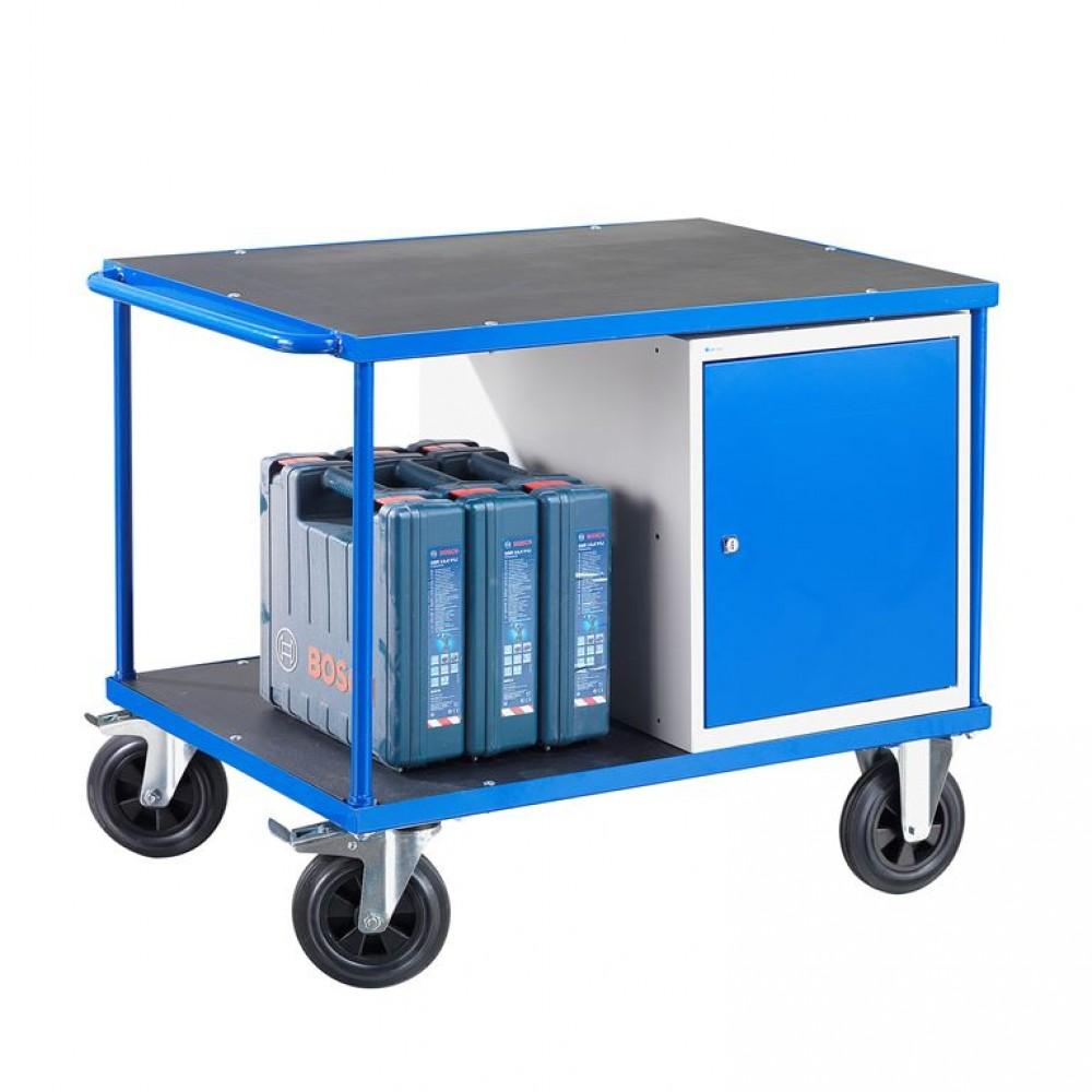 Carucior industrial cu 1 dulap, H 875 x  l 1000 x A 700 mm, capacitate 300 kg