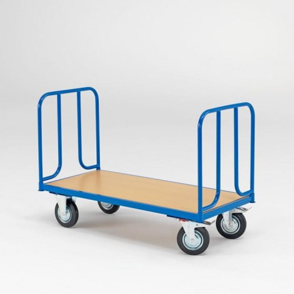 Cărucior platformă, 1300x600 mm, capacitate de încărcare 600 kg