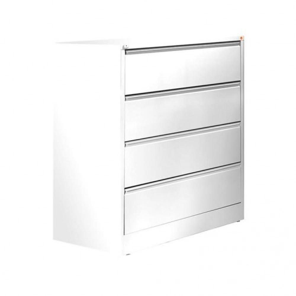 Dulap-fiset pentru documente 4 sertare, H 1320 x l 800 x A 425 mm, alb