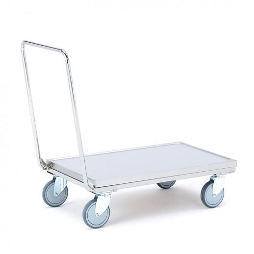 Carucior tip platformă  din inox, H 930 x l 550  x L 1070 mm, capacitate de încărcare 250 kg