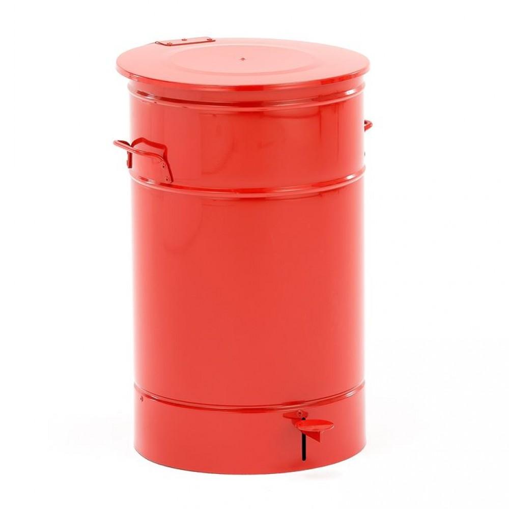 Recipient pentru deseuri, metalic, rosu, 70 L