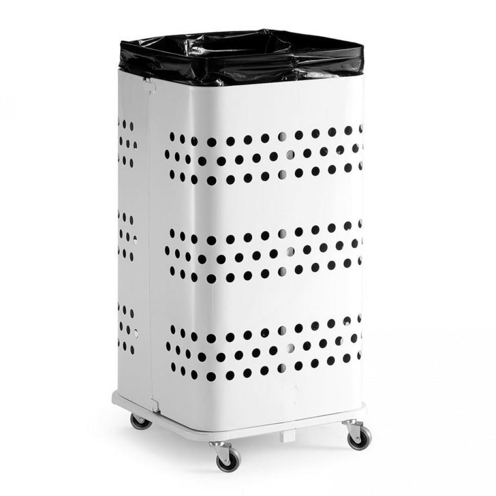 Suport pentru  saci de gunoi, fără capac, 450 x 450 x 900 mm, metal