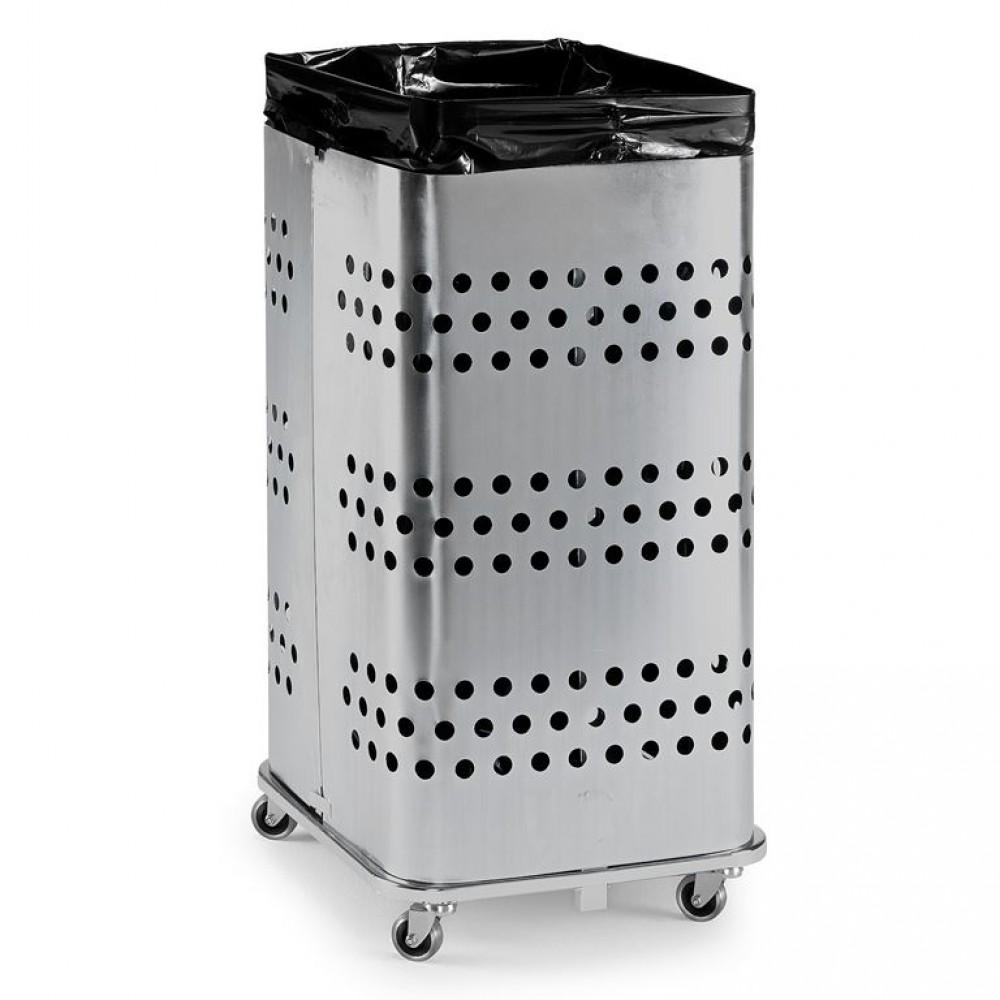 Suport pentru  saci de gunoi, fără capac, 450 x 450 x 900 mm, galvanizat
