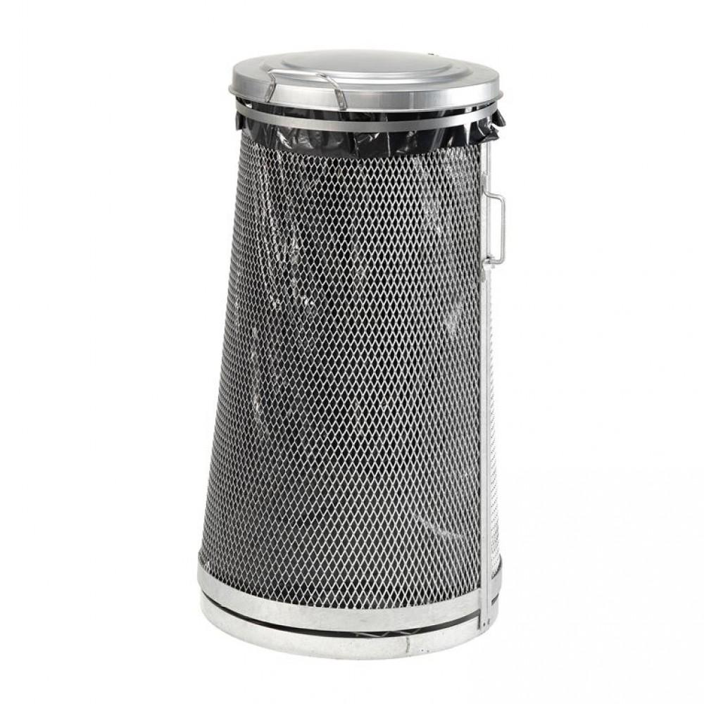 Cadru pentru saci de gunoi, diametrul  465/540 mm, H 1000 mm, volum 125-160 l, galvanizat