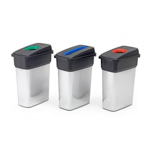 Cosuri de gunoi pentru sortarea deseurilor 3 x 55 L