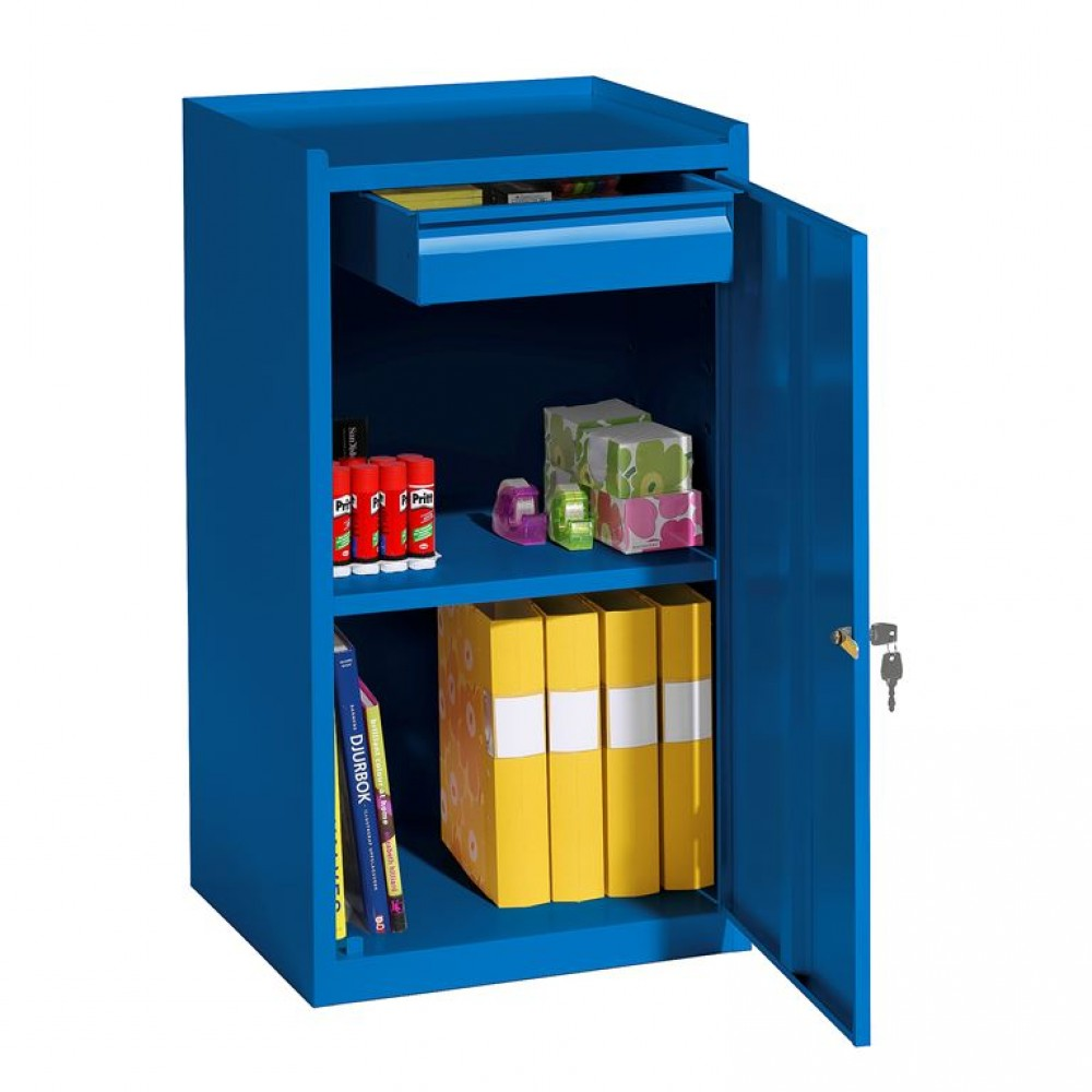 Cutie de scule, l 500 x A 450 x  H 900 mm, albastru