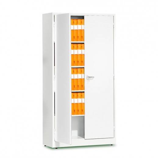 Dulap depozitare, l 1000 x A 400 x H 1900 mm, alb