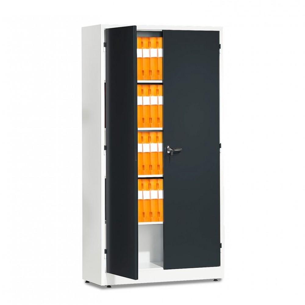 Dulap depozitare, l 1000 x A 400 x H 1900 mm, alb / gri