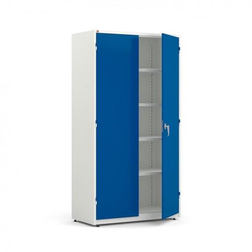 Dulap foarte mare de depozitare, l 1020 x A 500 x H 1900 mm, alb / albastru