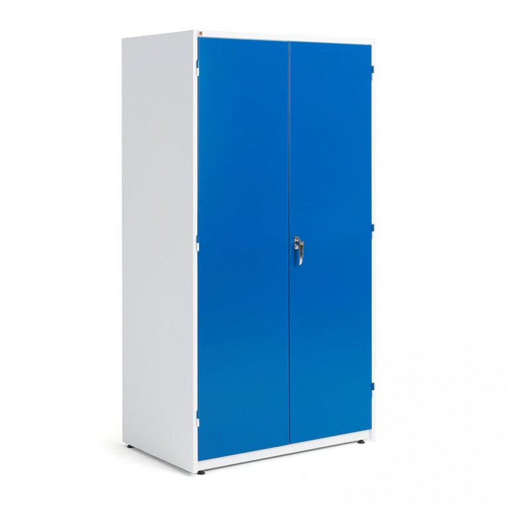 Dulap metalic de depozitare foarte mare, l 1020 x A 635 x H 1900 mm, alb/albastru