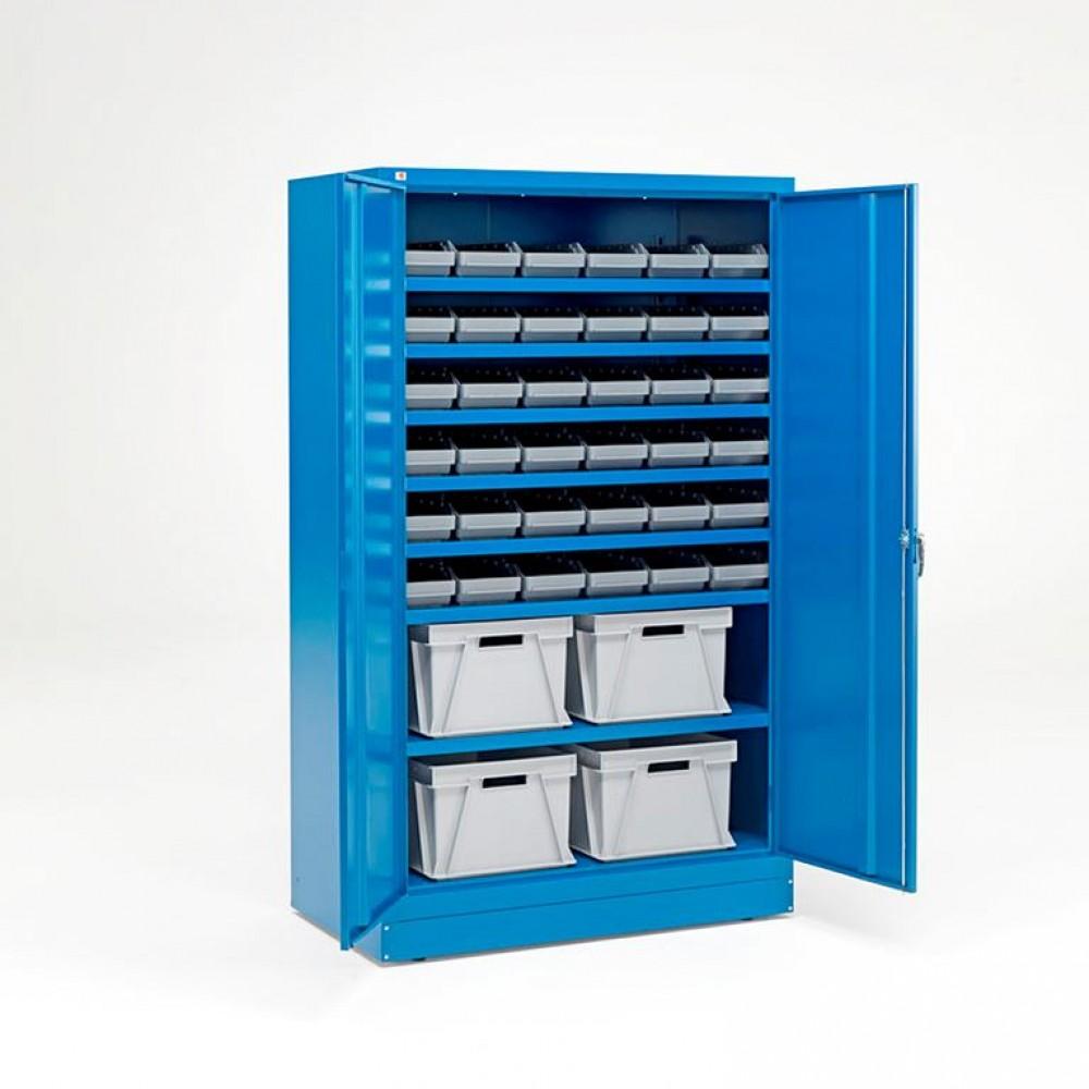 Dulap cu recipiente de plastic și cutii, 36 recipiente + 8 cutii