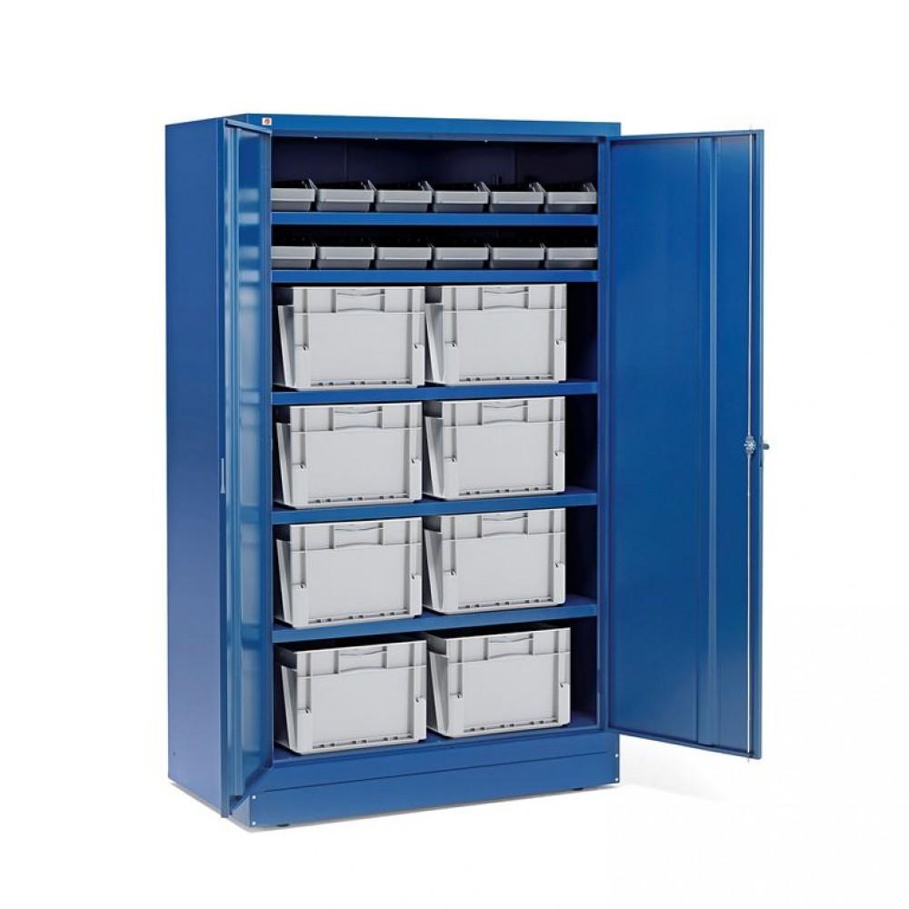 Dulap cu recipiente de plastic și cutii, 12 recipiente + 8 cutii