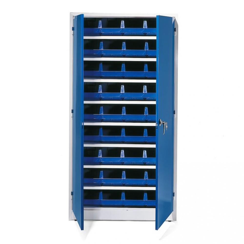 Dulap de depozitare cu 36 de recipiente din plastic, l 1000 x A 400 x H 1900 mm