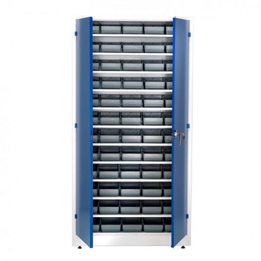 Dulap atelier cu 60 containere de plastic, 1900x1000x400 mm