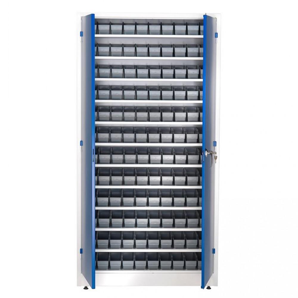 Dulap atelier cu 120 containere de plastic, 1900x1000x400 mm