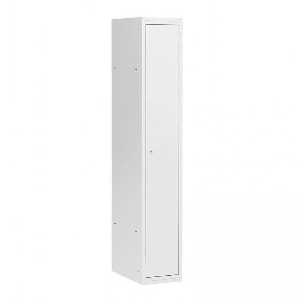 Dulap vestiar, 1 secțiune, 1 ușă, 1800x300x500 mm, usa gri
