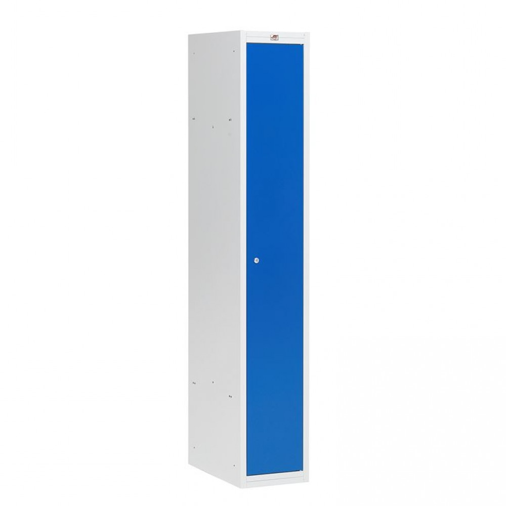 Dulap vestiar, 1 secțiune, 1 ușă, 1800x300x500 mm, usa albastra
