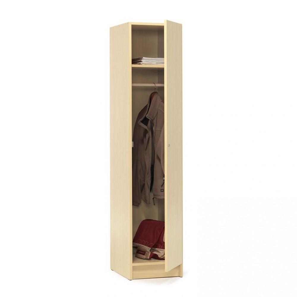 Dulap vestiar, pal melaminat, 1850x530x400 mm, mesteacan