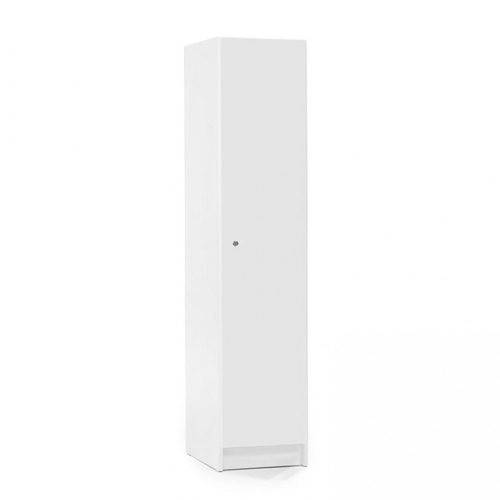 Dulap vestiar, pal melaminat, 1850x530x400 mm, alb