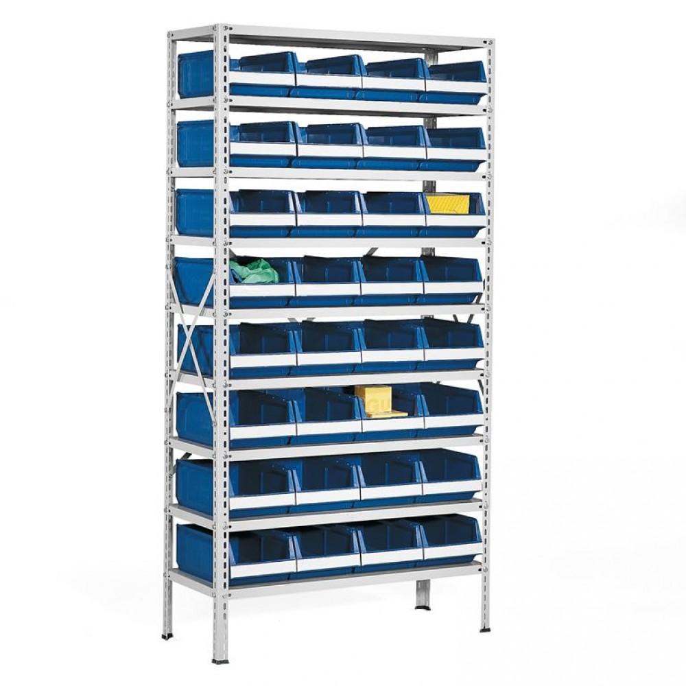Stand cu 32 de containere pentru depozitare, 1970x1000x400 mm