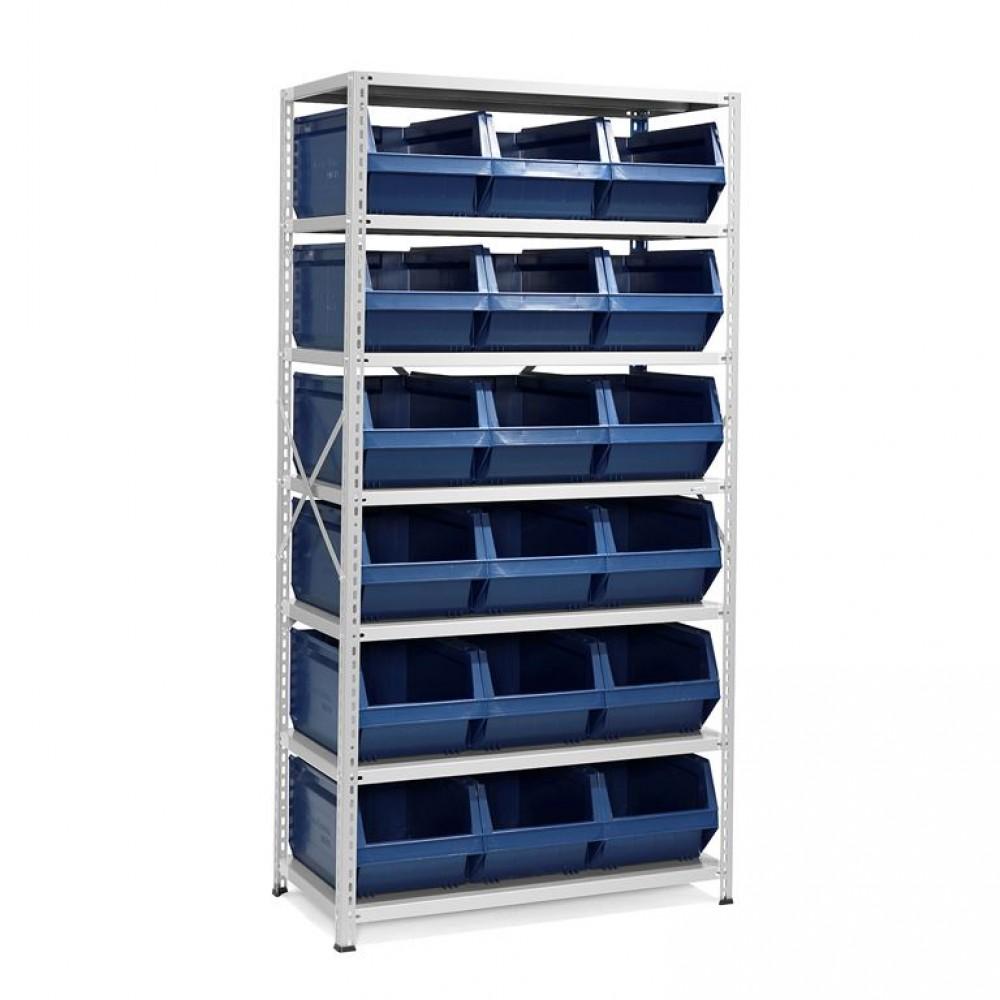 Stand cu 18 containere de depozitare, 1970x1000x500 mm