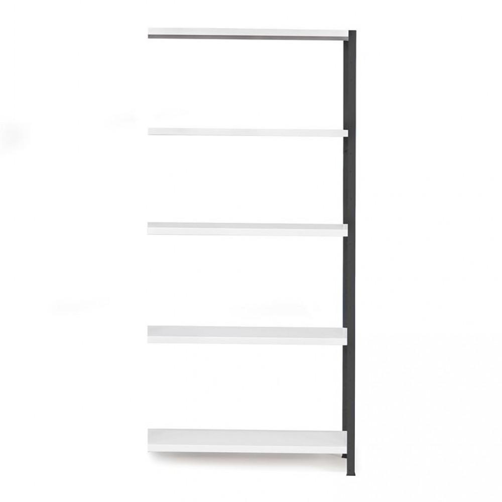 Sistem de rafturi pentru birou, secțiune aditionala, 1970x1005x600 mm, gri inchis